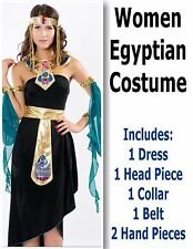 Women Adult Lady Egyptian Costume Tunic Dress  Event Party Christmas Halloween