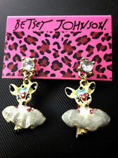 E426 Betsey Johnson Cute Animal Kingdom Dancing Deer Baby Lamb Goat Earrings US