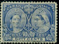 CANADA #60 50¢ Jubilee, used w/light cancel, XF, Scott $190.00+
