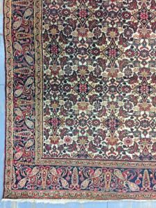 Antique Old Used Handmade Wool Rug Carpet Shabby Shabby Chic,Size:12.5 By 5.2Ft