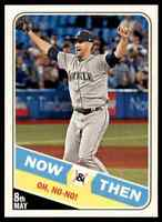 2018 TOPPS HERITAGE NOW & THEN JAMES PAXTON SEATTLE MARINERS #NT-5 INSERT