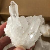 80-100g Natural White Clear Quartz Crystal Cluster Mineral Specimen Healing Gift