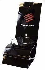 Mad Catz Piano Black Clear Perspex & Mirrored Headphone Display Storage Stand