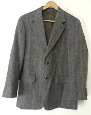 JEREMY COBB Esquire Mens Gray & Black Tweed Wool Blazer Sport Coat Size 42