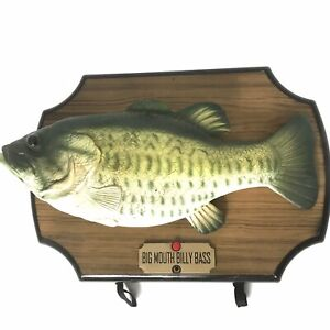 VTG 1999 BIG MOUTH BILLY BASS ANIMATED SINGING FISH Gemmy Industries- WORKING!