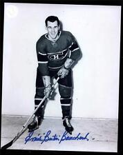 3 1940s Dec Montreal Canadiens HOF'ers Signed 8x10 Photos Lach Bouchard Reardon