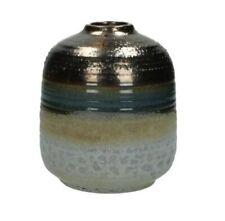 Rustic Pottery Metallic Bronze Ceramic Pot Bottle Decorative Bud Vase Vintage