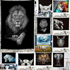 Animals Tapestry Wall Hangings Bedspread Throw Blanket Cover Home Room Decor NEW