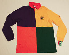 Cross Colours Men's Rugby Colorblock Long Sleeve KT4 Multicolored Medium NWT