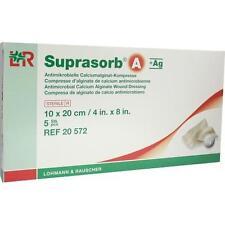 SUPRASORB A+Ag Antimik.Cal.Alginat Kompr.10x20 cm 5 St