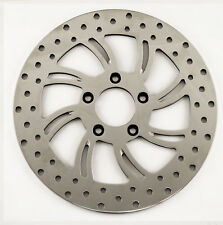 "Polished Stainless Vortex 11.5"" Right Side Front Brake Rotor for Harley Models"