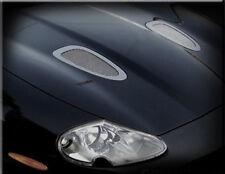 Jaguar XKR Direct Replacement Hood Mesh Grille Grill Louvers Set 1997-2006