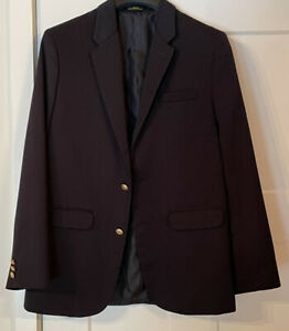 Arrow 18R Boys Youth Navy Blue 2 Button Blazer Sport Coat Jacket