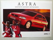 Prospekt Opel Astra G Edition Bayern München, 2.2000, 2 Seiten