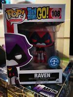 FUNKO POP! DC COMICS TEEN TITANS GO RAVEN RED UNDERGROUND TOYS EXCLUSIVE