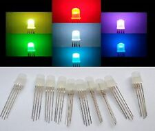 5 diodi led 5 mm RGB MULTICOLOR catodo comune ARDUINO con 5 resistenze omaggio