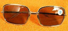 NEU: Vintage 1970er Herren Sonnenbrille VERGO, 70th sunglasses, SB Orgave silber