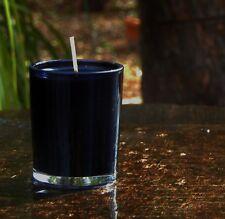 40hr GUNPOWDER FLINT Essential Oil Scented SEXY BLACK SOY WAX Jar Votive CANDLE