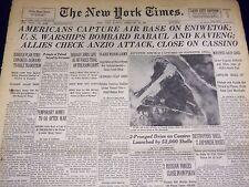 1944 FEBRUARY 20 NEW YORK TIMES - ALLIES CHECK ANZIO ATTACK - NT 3342