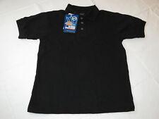 Youth Kids Dickies School Uniform Polo shirt short sleeve Black S 6/8 4552BK NEW