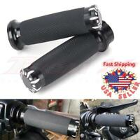 "Motorcycle Handle Bar Hand Grips 1"" For Honda Shadow ACE Aero Spirit VT 750 1100"