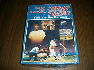 STATIS PRO BASEBALL GREAT TEAMS BOARD GAME COMPLETE 1989 AVALON HILL UNPUNCHED