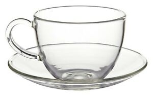 Glass Cup and Saucer - Ashbourne - 250ml - Chiswick Tea Co