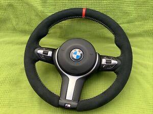 Bmw F10 F11 F06 F07 F01 M Sport Alcantara Steering Wheel 5 - 6 Series Complete