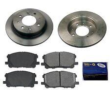 Rear Ceramic Brake Pad Set & Rotor Kit for 2005-2009 Kia Spectra 4W DISC