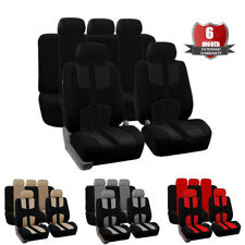 Black Fully Surrounded Universal Car Seat Cover Front + Rear 5 Seat Cushion