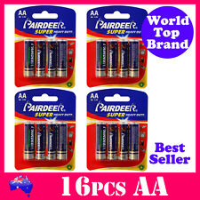 16x AA Battery Super Heavy Duty Batteries AA Premium Quality PAIRDEER 1.5V