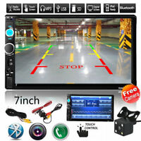 "2 DIN Car Multimedia FM Radio 7"" MP5 Player Bluetooth with rear view camera"