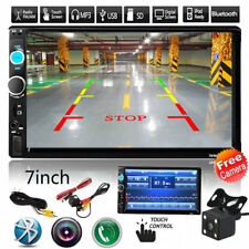 "2 DIN Car Multimedia FM Radio DVD CD 7"" MP5 Player Bluetooth HD Rear View Camera"