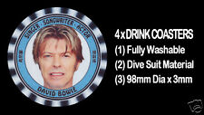 4  x  DAVID BOWIE, SINGER - SONGWRITER - ACTOR, TRIBUTE - DRINK COASTERS