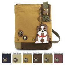 Chala Purse Patch Crossbody Brown Bag Canvas Messenger BULLDOG Dog gift