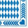300 Servietten 3-lagig 1/4-Falz 33 cm Bayrisch Blau Oktoberfest Party Wiesn FSC®