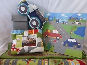 8 pc Circo Around Town Collection Twin Quilt Bedding & Decor Set NIP