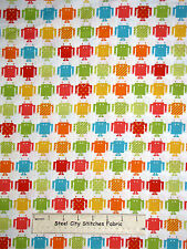 Robot Machine Robotic Multicolor Robot Cotton Fabric Robert Kaufman Funbots Yard