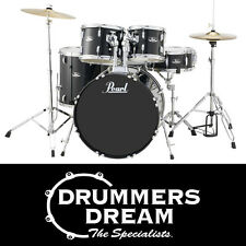 "Pearl Roadshow 5pce 20"" Drum Kit Gig Ready w/Cymbals & Hardware Jet Black Finish"