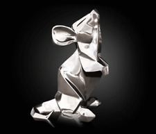 More details for mouse silver sculpture by nomi origami design gift