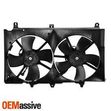 For 2003-2007 Infiniti G35 03-06 Nissan 350Z Condenser Cooling Radiator Dual Fan