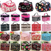 Womens Makeup Cosmetic Toiletry Wash Bag Case Multifunction Pouch Zip Organizer