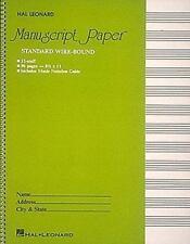 Music Manuscript Paper Standard Wirebound (Green Cover) Hal Leonard LOT of 3