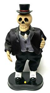 Halloween Vintage Dancing Skeleton Man Top Hat