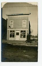 """Henry Sandrock Harness Shop RPPC """"Out of Business"""" Antique Storefront Photo~1910"""