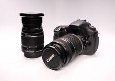 Canon EOS 60D 18.0MP DSLR w/ EF-S IS 18-55mm & 55-250mm & camera bag