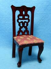 Dollhouse Miniature Kitchen / Dining Room Chair Mauve Diamond Fabric ~ T3281