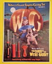 WALLACE & GROMIT PUMPKIN CARVING SET THE CURSE OF THE WERE-RABBIT AARDMAN SWAG
