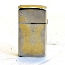 Small Ladies Zippo Lighter Plain Gold and Silver Color 1999