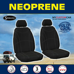 For Toyota Hilux Bucket 2005-2015 Custom Black Waterproof FRONT Seat Covers
